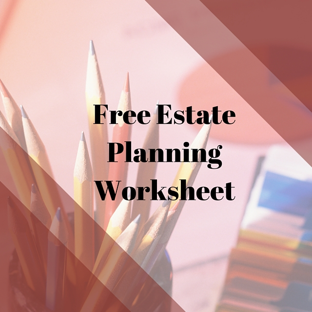 Estate Planning Worksheet - resultinfos