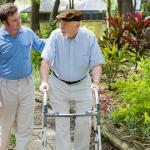 an old man on walk